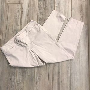 Cream Old Navy Pixie Pants.